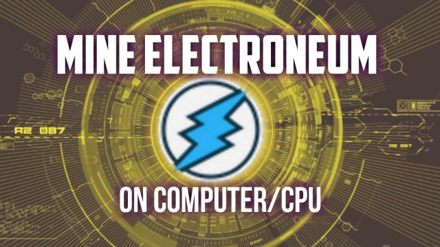 Electroneum mining on Computer